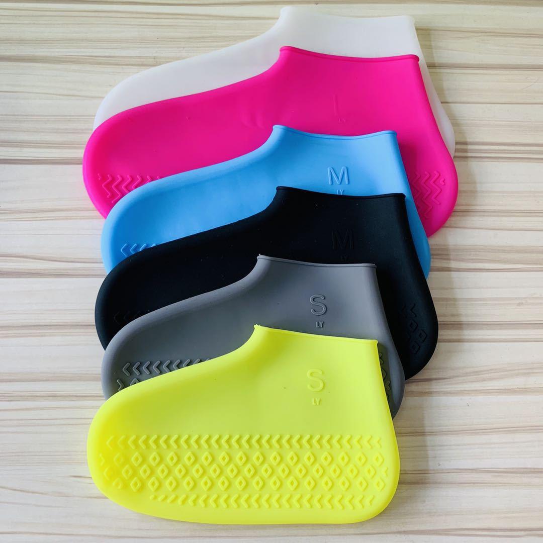 Silicone Shoe Cover Waterproof Rainproof Anti-slip Sleeve allinonehere.com