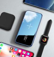 Full screen mirror fast charging multi-port mobile power