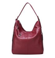Soft leather shoulder bag