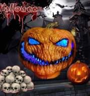 Halloween new pumpkin lights funny ghost pumpkin decoration