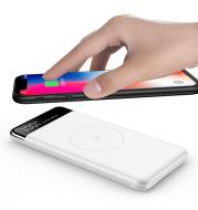 Ultra-thin 10000 milli-digital wireless charging treasure