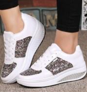 Sequin women's sneakers