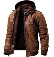 Winter Fashion Motorcycle Leather Jacket Men Slim Fit Oblique Zipper PU Jackets Autumn Mens Leather Biker Coats Warm Streetwear