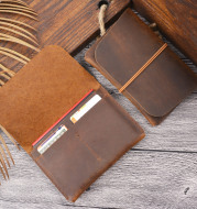 Passport package ID laminated leather card holder
