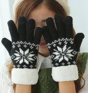 Double thickening plus velvet winter warm gloves