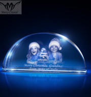 crystal  photo custom  laser engraving crystal sphere