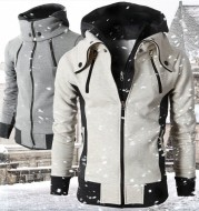 Men's High-Necked Hooded Jacket