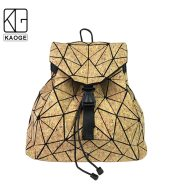 KAOGE Original Natural Cork Backpack Women Fashion Wooden Vegan Bag Female Backpacks Travel Bagpack Girl School Bag