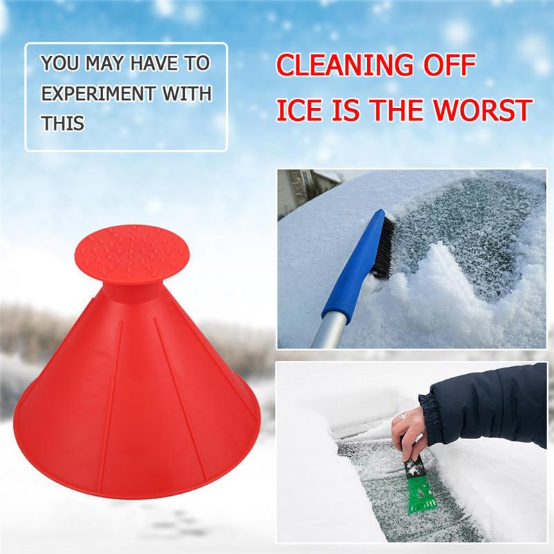 Scrape-a-round Magical Ice Scraper Snow Removal allinonehere.com