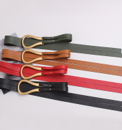 Metal curved large horseshoe buckle belt