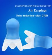 Airplane decompression and sound-insulating earplugs