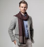 Ethnic classic plaid casual warm scarf