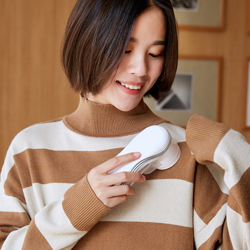 Lint Remover Fabric Shaver USB Portable Fuzz Removal Machine Battery Powered For Sweater Blanket Couch Scarf Winter Must-have
