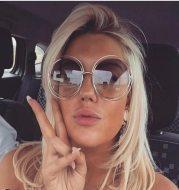 Metal double circle sunglasses