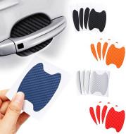 4pcs / set of door stickers carbon fiber scratch-resistant car handle stickers
