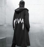 Hooded long shawl coat