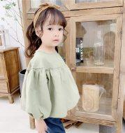 Girls' Korean Long Sleeve Doll Shirt
