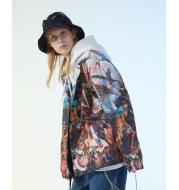 Fallen Angel's Rebellious Oil Painting Print Jacket