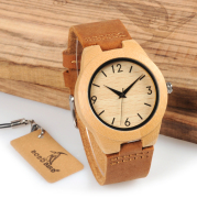 Bamboo Watch Leather Belt