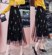 Lace mesh skirt