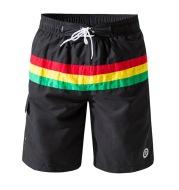 Home casual pants striped printed beach pants