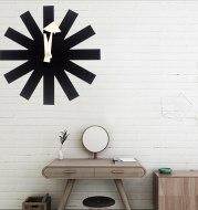 Classic black decorative quartz clock