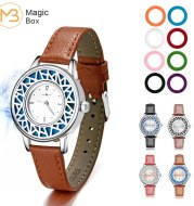 Stainless steel aromatherapy watch