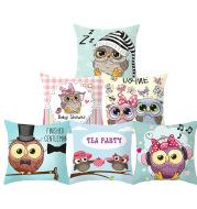 Owl animal pillowcase cushion cover
