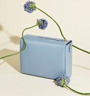 Solid color square box bag
