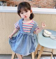 Girls' denim suspender skirt summer dress children's skirt