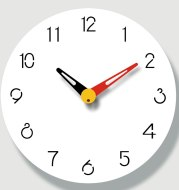 Three-dimensional wall clock