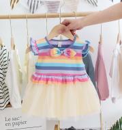 Korean style girl short-sleeved princess dress
