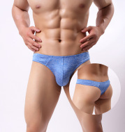 Men's sexy comfortable breathable thong underwear