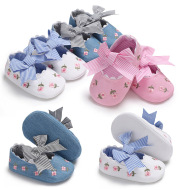 Bowknot Baby Shoes Girl Toddler Anti-Slip Shoe