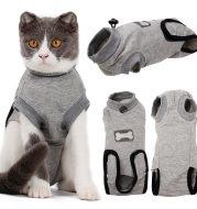 Pet Cat Recovery After Surgery Clothing Pet Wound Anti-mite Sterilization Suit pet products supplies &c
