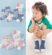 Winter cotton striped socks for children