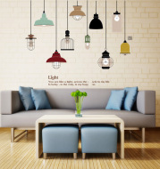 Living room bedroom decoration environmentally friendly removable waterproof wall stickers