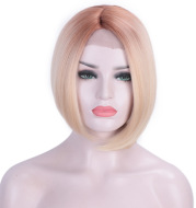 European and American front lace chemical fiber wig hood