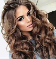 Long curly gradient rose net fake headgear