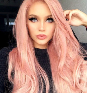 New chemical fiber hair long curly wig