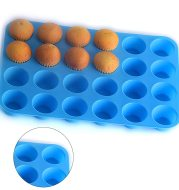 24 holes with round silicone cake mould