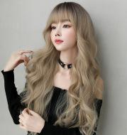 Golden big wavy wig