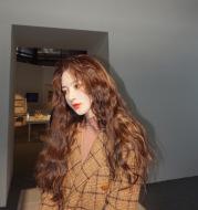 Chemical fiber long wig