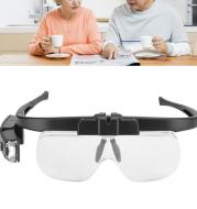 Spectacle charging magnifier
