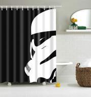 3D digital printing waterproof shower curtain