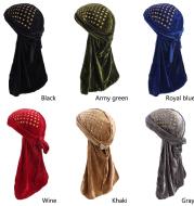 Velvet long tail scarf