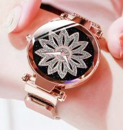 Quartz watch with starry sky surface for ladies