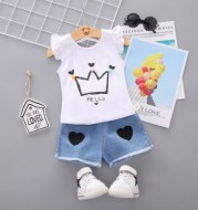 Baby 2021 Shorts T shirtChildren 2pcs kidsclothes for Girl