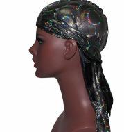 Laser Circle Simulation Silk Long Tail Pirate Hat