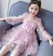 Children's fluffy yarn skirt baby girl